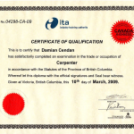 Red Seal of carpenter certification