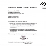 Residencial Builder Licence
